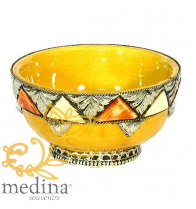 Enameled artisanal bowl – Yellow
