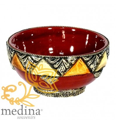 Enameled artisanal bowl – Burgundy
