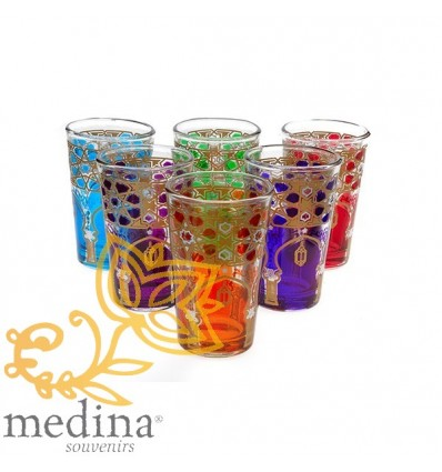 Multi-colored tea glasses Menara model