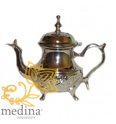 Engraved medium Moroccan teapot Taiga