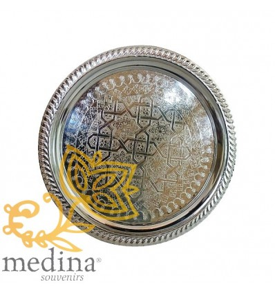 Hollow silver tray Koutoubia